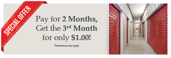 Classic Storage Pay 2 Months Get 3rd Month Free Online Coupon